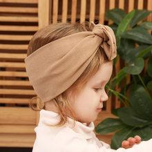 Bandeau en coton pour bébé fille, serre-tête avec nœud pour enfant en bas âge, serre-tête pour enfants