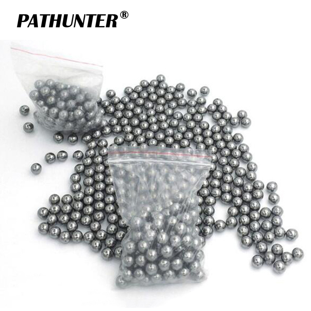 100PCS 6/7/7.5/8.5/9mm Steel Balls Pocket Shot Outdoor Hunting Slingshot Pinball Stainless Ammo Shooting Balls Accessories