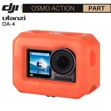 Ulanzi OA 4 Floaty Case Housing for Dji Osmo Action Floating Orange Venture Shell Case for Surfing Skating