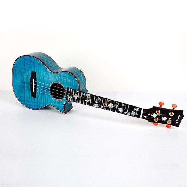 Enya 26 inch Ukulele Flame Maple 23inch Blue Ukulele Concert Tenor ukulele Hawaii Guitar 4 String musical instruments