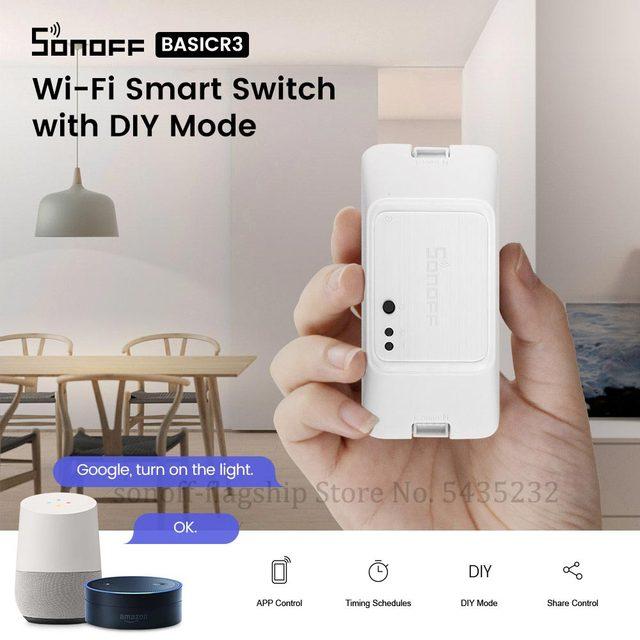 Itead SONOFF di Base R3 Wifi Smart Switch Modulo Tramite e Welink A Distanza di Controllo Wifi Interruttore Domotica Luce Interruttore di Controllo timer