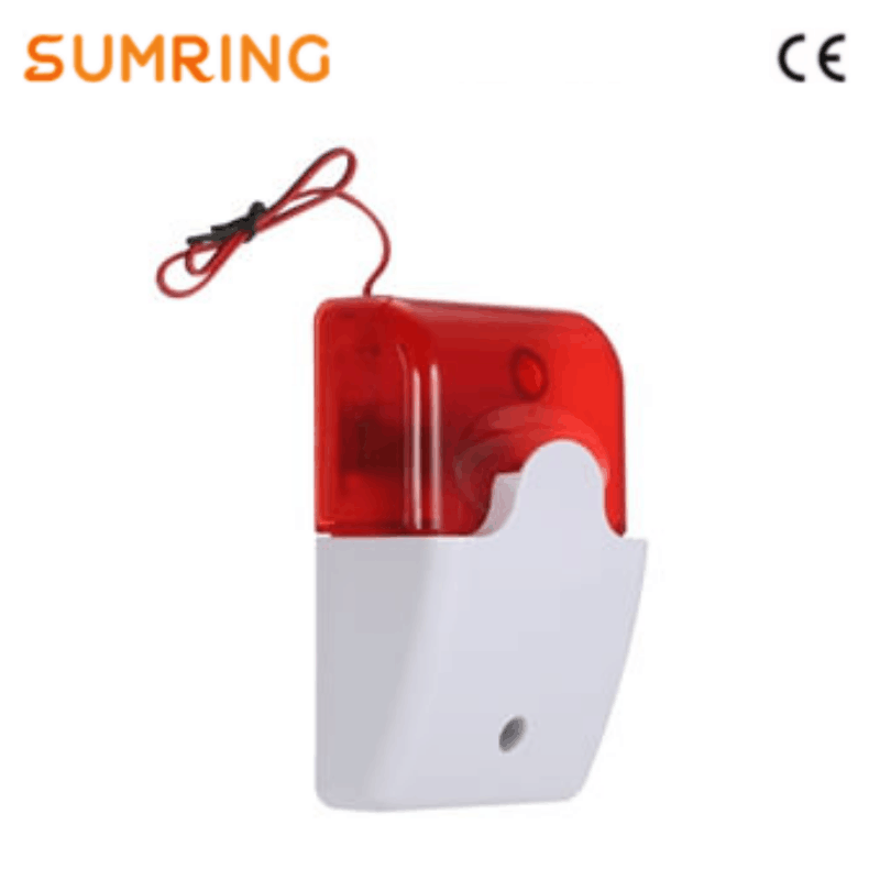 Mini Strobe Siren Security CE 12V Wired Strobe Siren With Flash Light