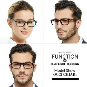 Image 3 - OCCI CHIARI okulary do czytania mężczyźni blokujące niebieskie światło okulary do czytania kobiety TR90 prezbiopia okulary komputerowe + 1.5 + 2.0 + 2.5 do + 4.0