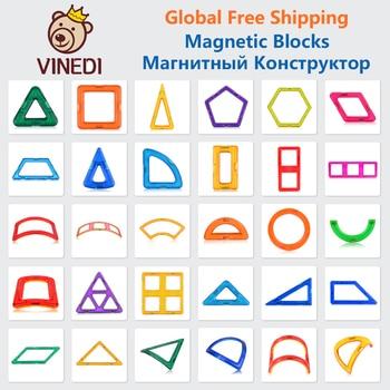 VINEDI Big Size Magnetic Designer Construction Set Model & Building Toy Magnets Magnetic Blocks Educational Toys For Children joylove 21 253pcs children s teaching aids mini magnetic designer construction set model