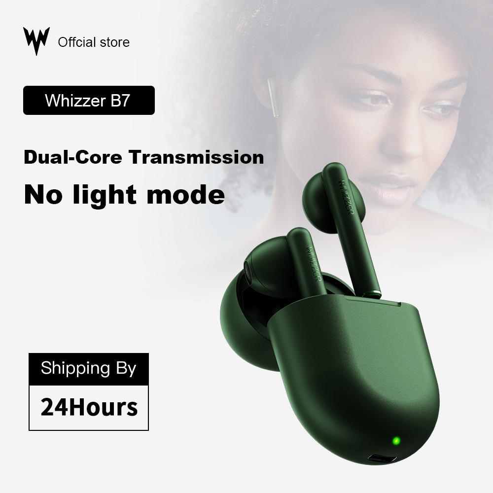 Original Whizzer B7 TWS Headphones BravoPods Wireless Earphone Voice Control Bluetooth 5.0 Noise Reduction Tap Control