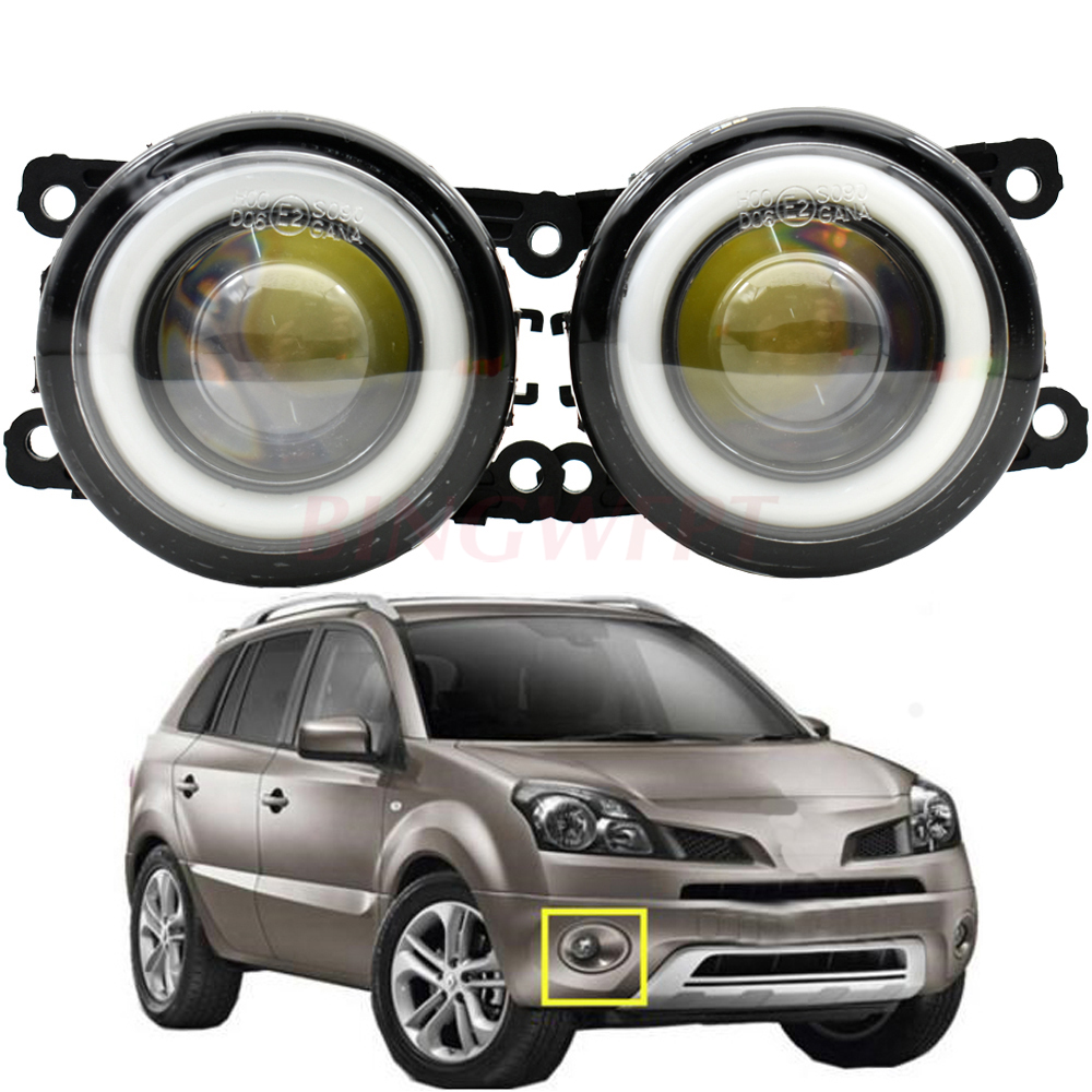 2pcs Car-styling LED Fog Light Angel Eye DRL 3000LM For <font><b>Renault</b></font> <font><b>Koleos</b></font> HY Closed Off-Road Vehicle <font><b>2008</b></font> 2009 2010 2011-2015 image