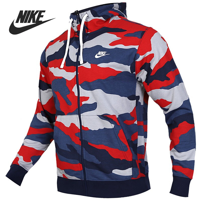 Original New Arrival 2018 NIKE NSW HOODIE AIR FZ FLC Men's Jacket Hooded Sportswear