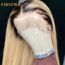 Straight T1B613 Blonde Bob Wig Brazilian Lace Front Human Re