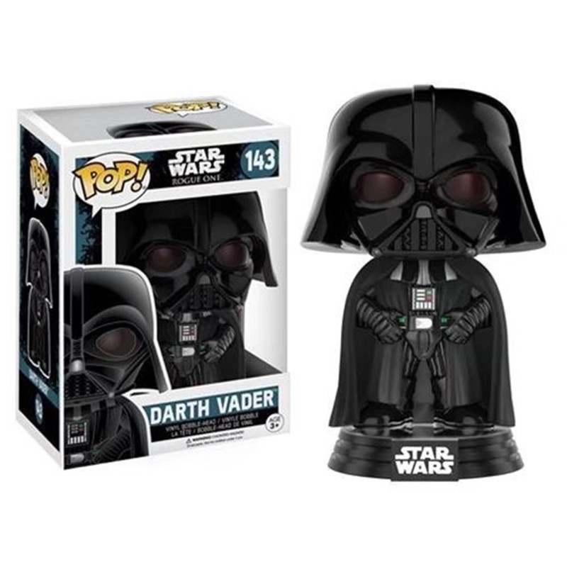 FUNKO POP Star Wars Darth Vader Luke Skywalker Leia Action Figure Collection Model Toys for Children xmas Gift 5