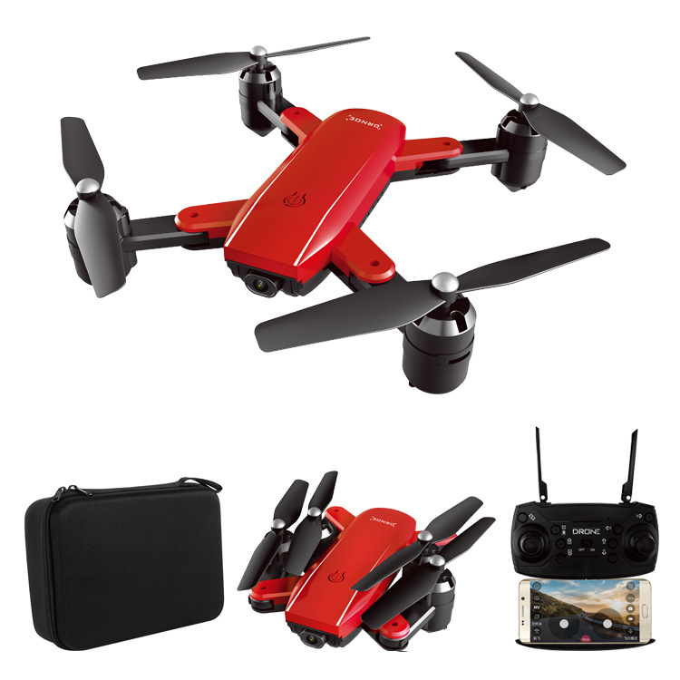 High-definition 1080 Folding Unmanned Aerial Vehicle Gesture Control Follow Optical Flow 500W Double Camera Aerial Photography Q