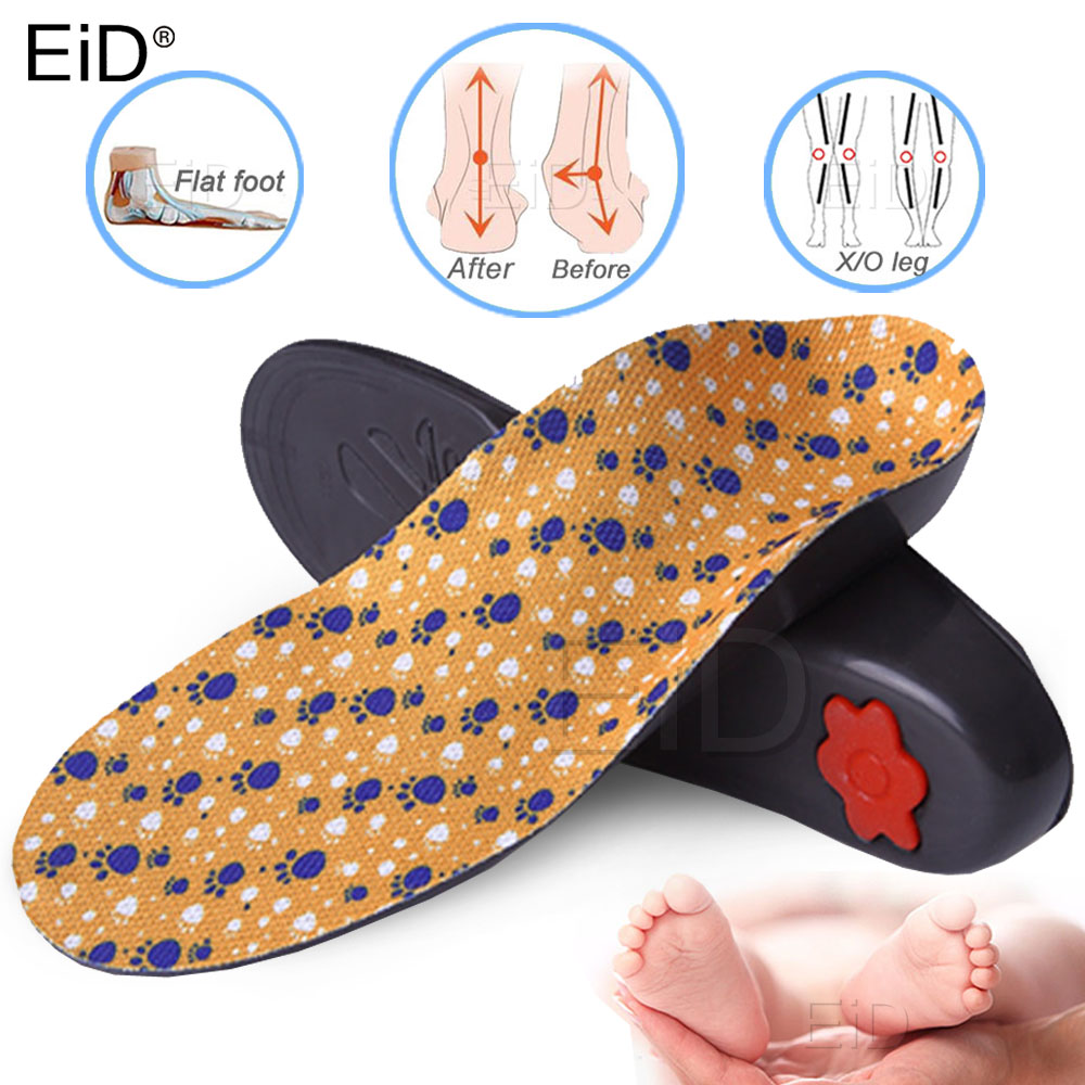 EiD Kids Orthopedic Insoles For Children Flat Foot Arch Support Orthotic Pads Correction Health Feet Care Insoles Orthopedic