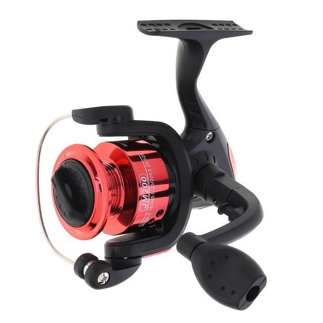 Kırmızı/mavi Mini 200 serisi 3BB rulman 5.2:1 dişli oranı iplik balıkçılık Reel 100m 3 # döngüler döndür balıkçılık Reel