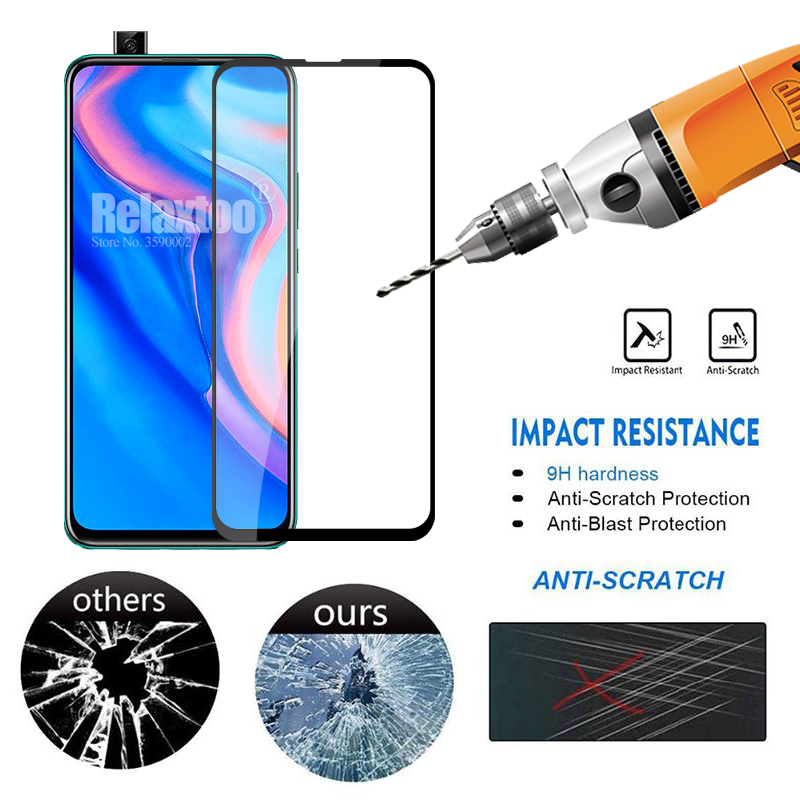 2 in 1 protective Glass For huawei p smart Z tempered Glass on hauwei p smart 2019 psmart Z STK-LX1 camera lens protector Film 3