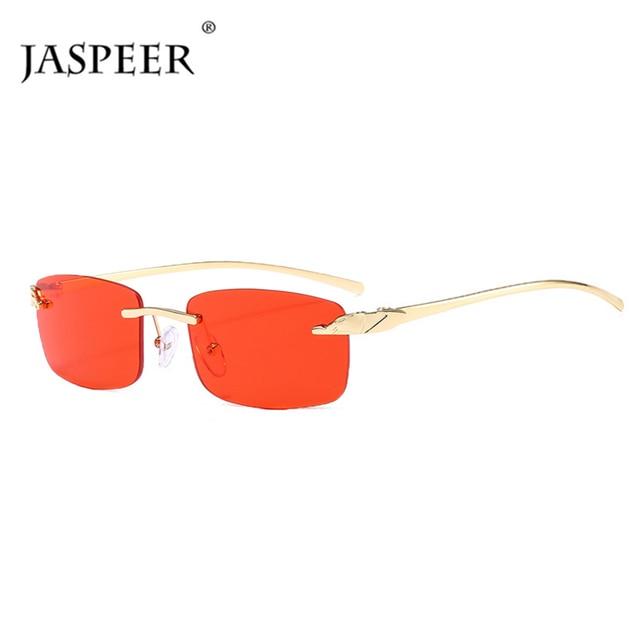 2020 Fashion Rectangle Sunglasses Women Rimless Small Lens Sunglasses Classical Alloy Metal Sun Glasses Men UV400 3