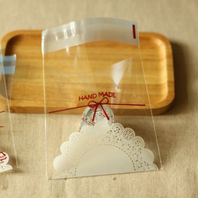 100pcs Plastic Bags Jewelry Small Food Packaging Candy Cookie Bags Clear Plastic Envelope