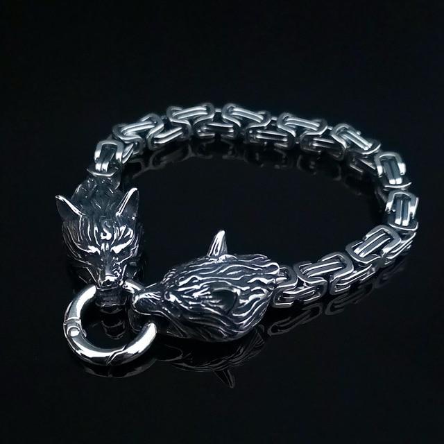 Bracelet loup  acier empereur  5