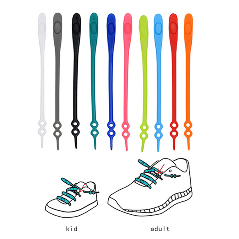 1 Pcs Lazy Silicone Shoe Laces No Tie Elastic Sneakers Shoelace Athletic Running Sport Shoelaces Children Adult Shoe Strings