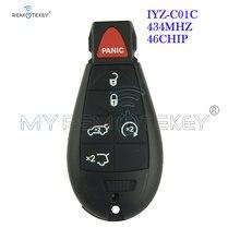 Дистанционный ключ remtekey #7 fobik 434 МГц iyz c01c 5 + 1