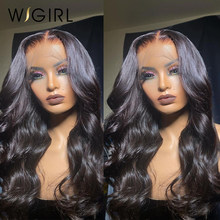 Wigirl fechamento do laço perucas cabelo humano onda do corpo brasileiro 13x4 perucas do laço para preto peruca do bob das mulheres pré arrancadas com cabelo do bebê