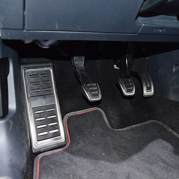 Car styling Sport Fuel Brake Dead Pedal Cover Set DSG For Seat Leon 5F MK3 For Skoda Octavia A7 For VW golf 7 8 Auto Accessories