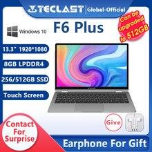 Teclast portátil f6 plus 13.3 Polegada 1920 × 1080 completa hd 8gb ram 256gb rom 360 graus de rotação windows 10 os 38000mwh bateria notebook