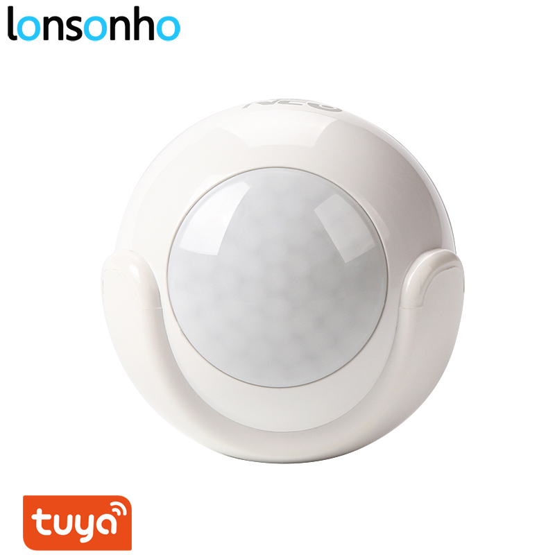 Lonsonho Tuya Smart Life Wifi Smart PIR Motion Sensor Wireless Alarm Detector Smart Home Automation Modules