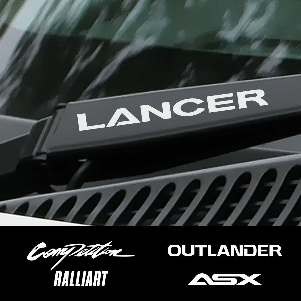 4 Pcs Mobil Vinyl Jendela Wiper Dekorasi untuk Mitsubishi Lancer 10 3 9 EX Outlander 3 ASX L200 Ralliart kompetisi Aksesoris