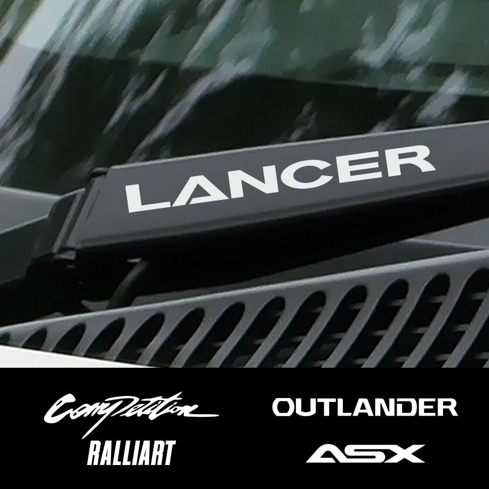 4PCS Car Vinyl Window Wiper Decor Stickers For Mitsubishi Lancer 10 3 9 EX Outlander 3 ASX L200 Ralliart Competition Accessories