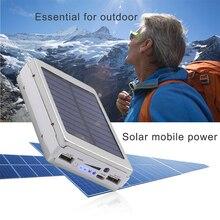 50000mAh Solar Panel LED Light Power Bank External Double US