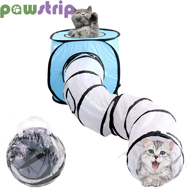S Shape Pet Cat Tunnel Foldable Cat Toys Interactive Collapsible Cat Tent House Rabbit Ferrets Cat Play Dog Tunnel Tubes Pet Toy image