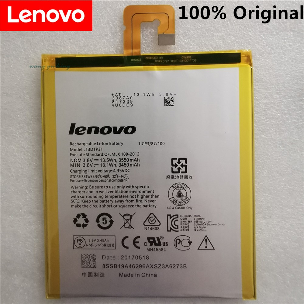 New 100% Original L13D1P31 Battery For Lenovo Pad A3500 S5000 S5000-H Tab3 7 TB3 710i 710F Tab 2 A7 A7-30 A7-10F A7-20F Battery