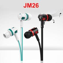 1.2m JM26 Flat Cable Hands-free ABS + TPE Cable 3.5mm Plug In-Ear Bass Stereo Sports Wired Earphones Headsets Проводные наушники stereo mp3 in ear earphones red 3 5mm plug 110cm cable