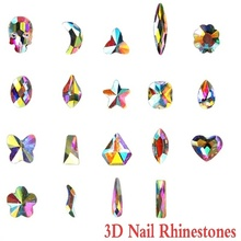 20 pcs Small Shape Top Crystal AB Czech Rhinestone drop horse eye skull Flatback for Nail Art
