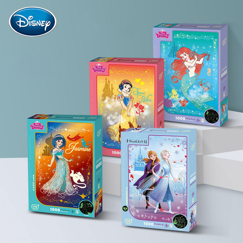 Disney Toy Frozen 2 / Disney Princess Pattern Puzzle 1000 Pieces Of Luminous Jigsaw Puzzles For Toys Brain Game