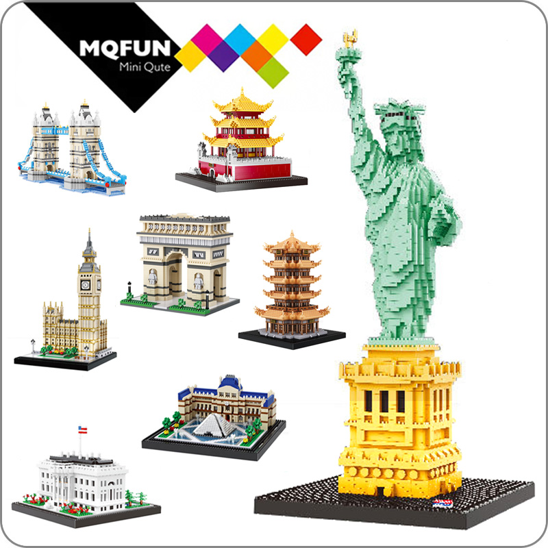 Balody Diamond Building Blocks City Big Ben Arch Of Triumph Word Great Architecture Assembly Model Micro Blocks Educational Toy