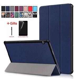 Ультратонкий чехол для Huawei Mediapad T5 10, 10,1 дюйма, чехол для планшета, пленка, ручка, для Huawei Mediapad T5 10, 1/8/L09/L03/W19