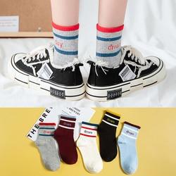Cotton Women Socks Cute Bow Female Casual Boat 3D Pack Harajuku Invisiable Funny Girl Ankle  Plaid Sock