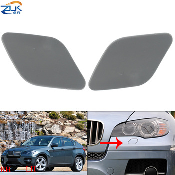 ZUK Headlight Headlamp Washer Spray Nozzle Cover Cap Lid Case Primed For BMW X5 E70 X6 E71 E72 2008-2013 51657052427 51657052428 image