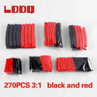 LDDQ 270Pcs 3:1 red black Heat Shrink Tube with Glue Dual Wall Tubing Cable Sleeve Tube Set 6 Size kit shrinkable tube