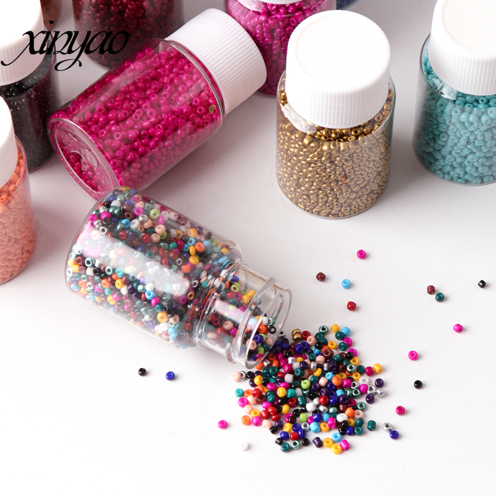 XINAYO 1Bottle 2000PCS Bottled Glass Beads 5.5X3cm For Bracelet Necklace Anklet Earring DIY Craft &Jewelry Making(China)