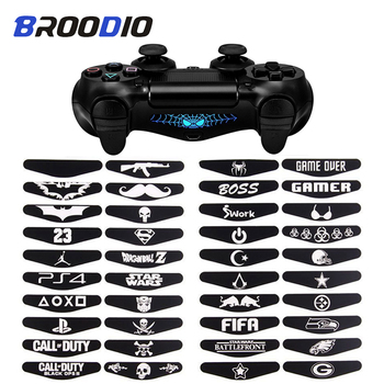 4Pcs/lot LED Light Bar Skin Sticker For Dualshock 4 PS4 DS4 Pro Slim Controller Decal Cover For PlayStation 4 Control Game Skins new popular cod decal skin cover for playstation 4 slim for ps4 slim console stickers skin 2 pcs controller vinyl skins