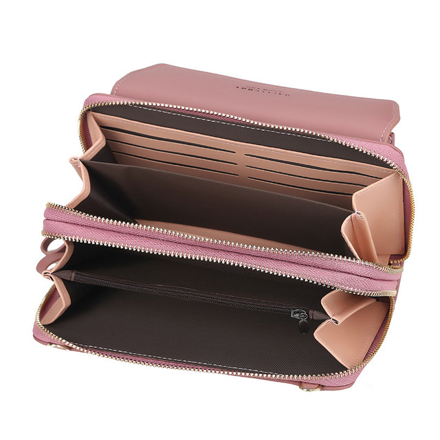 Baellerry Women Wallet Double Zipper Summer Female Shoulder Bag Top Quality Cell Phone Pocket Bags Fashion Crossbody Bags 2
