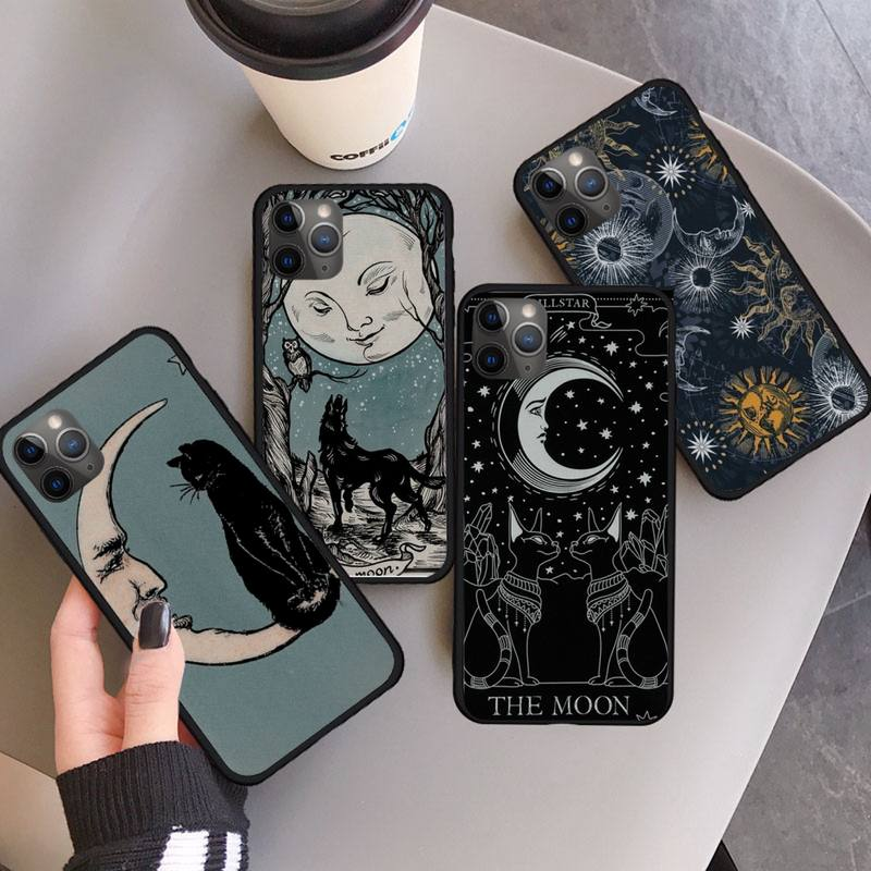 Witches moon Tarot Mystery totem Phone Case for iPhone 11 12 pro MINI XS MAX 8 7 6 6S Plus X 5S SE 2020 XR