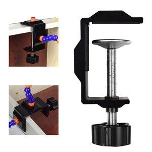 Image 5 - Toolour çoklu lehimleme yardım eli üçüncü el aracı ile 4 adet esnek kolları lehimleme İstasyonu tutucu PCB kaynak onarım için