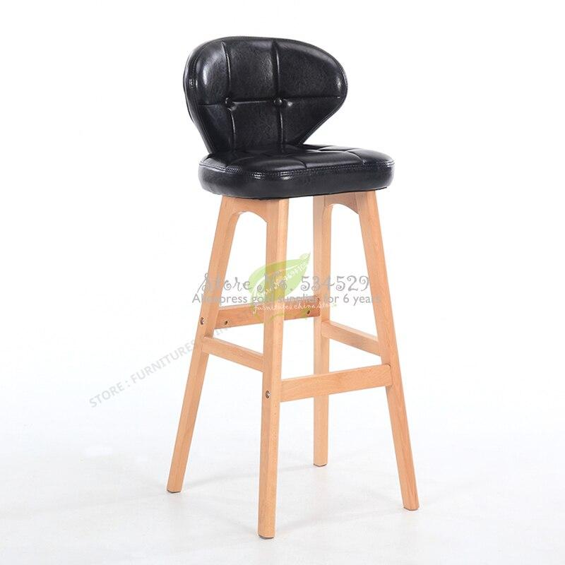 38%Stool Bar Tabouret De Bar Modern Bar Stool Bar Furniture Make Up Chair Beauty Salon Furniture Solid Wood Modern Simplicity