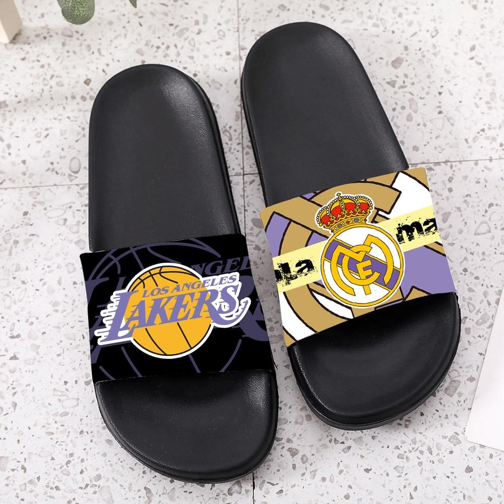 Slippers Men Slippers Women Slipperoutdoor Home Slippers Mens  Slides Summer Football Team Basketball Man Woman Male Female