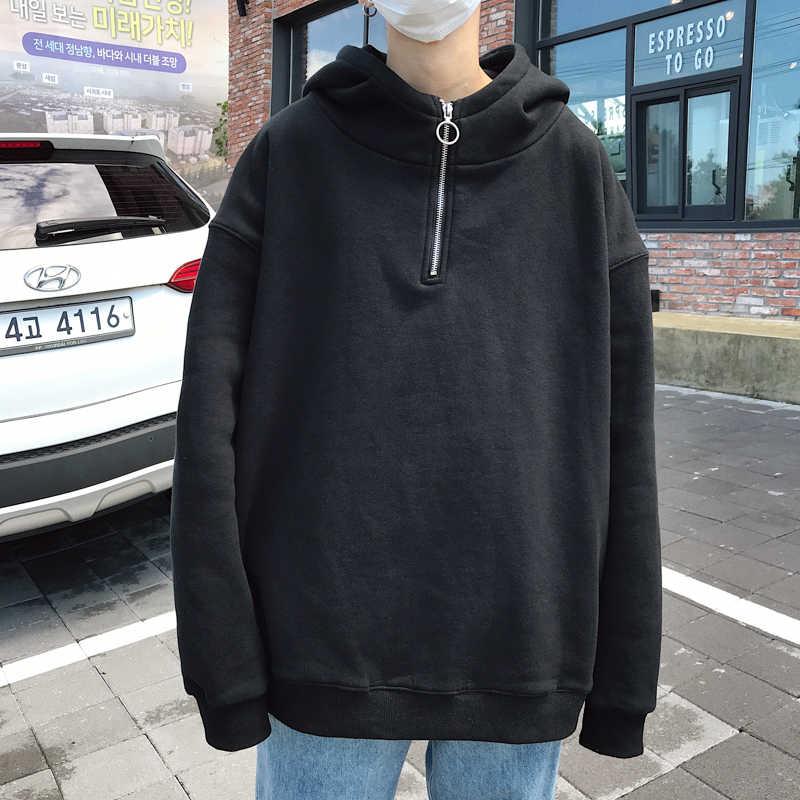 2020 봄 긴 소매 남자 솔리드 후드 티 후드 루스 힙합 Streetwear 풀오버 남성 운동복
