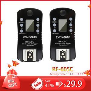 Image 1 - YONGNUO RF 605C Transceiver RF605C RF605 C YN 605C Wireless Flash Trigger for Canon for RF 602 RF 603 RF 603II and YN 560TX