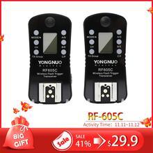Yongnuo RF 605C transmissor sem fio rf605c rf605 c yn 605c, gatilho flash para canon, para RF 602 RF 603 RF 603II e YN 560TX