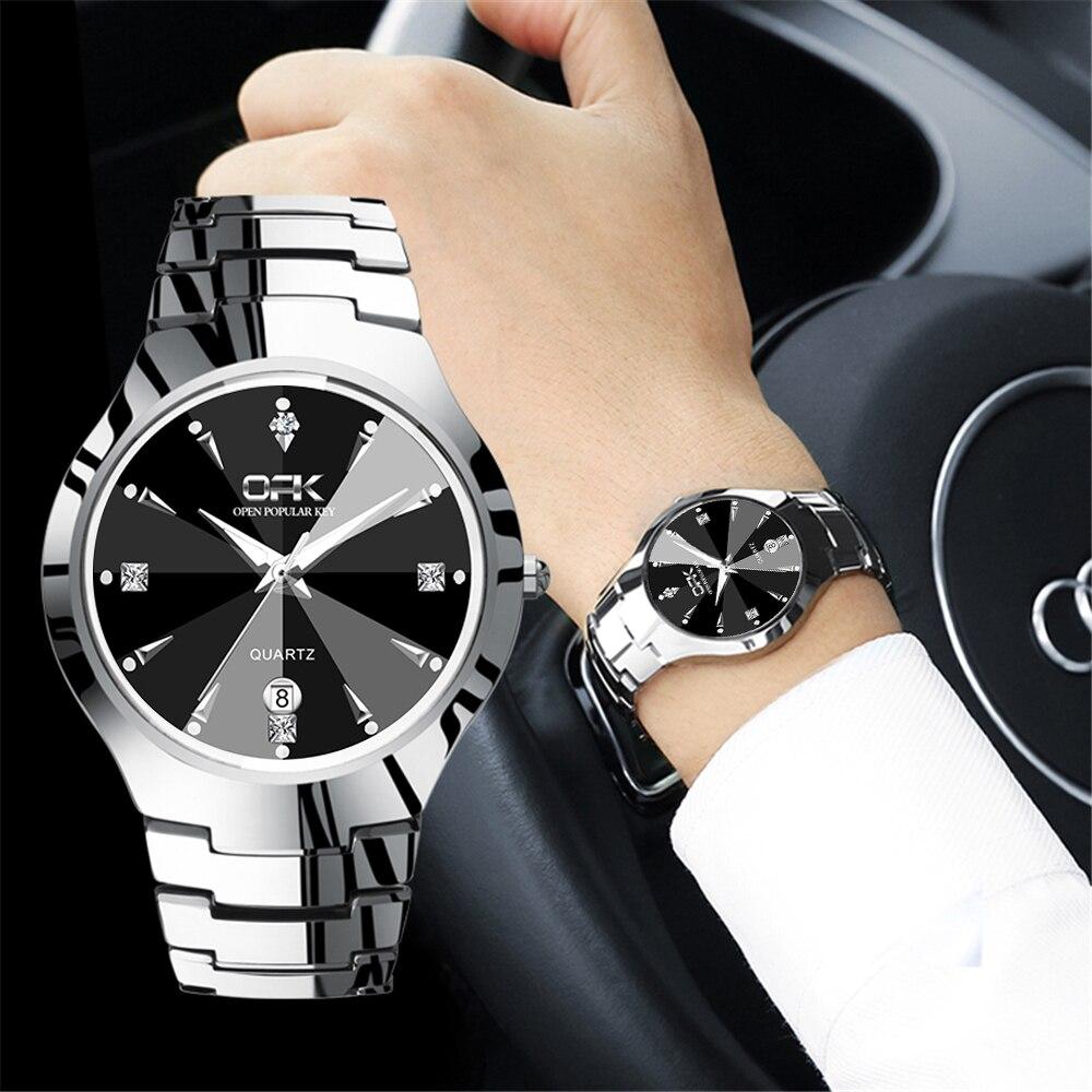 Relojes 2020 Watch Men OPK Fashion Sport Quartz Clock Top Brand Stainless Steel Waterproof Watch Relogio Masculino